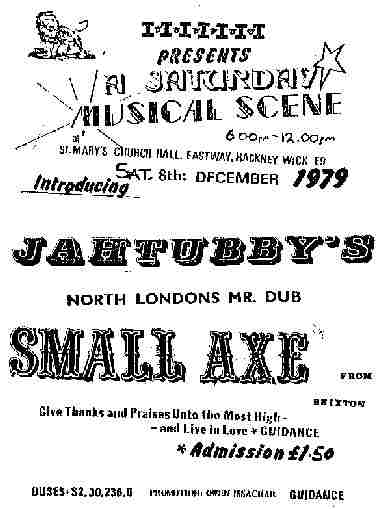 Jah Tubbys Meets Small Axe 1979