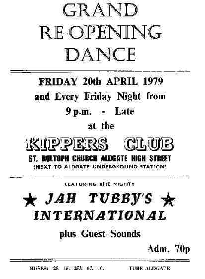 Jah Tubbys @ Kippers - the place to be !!!